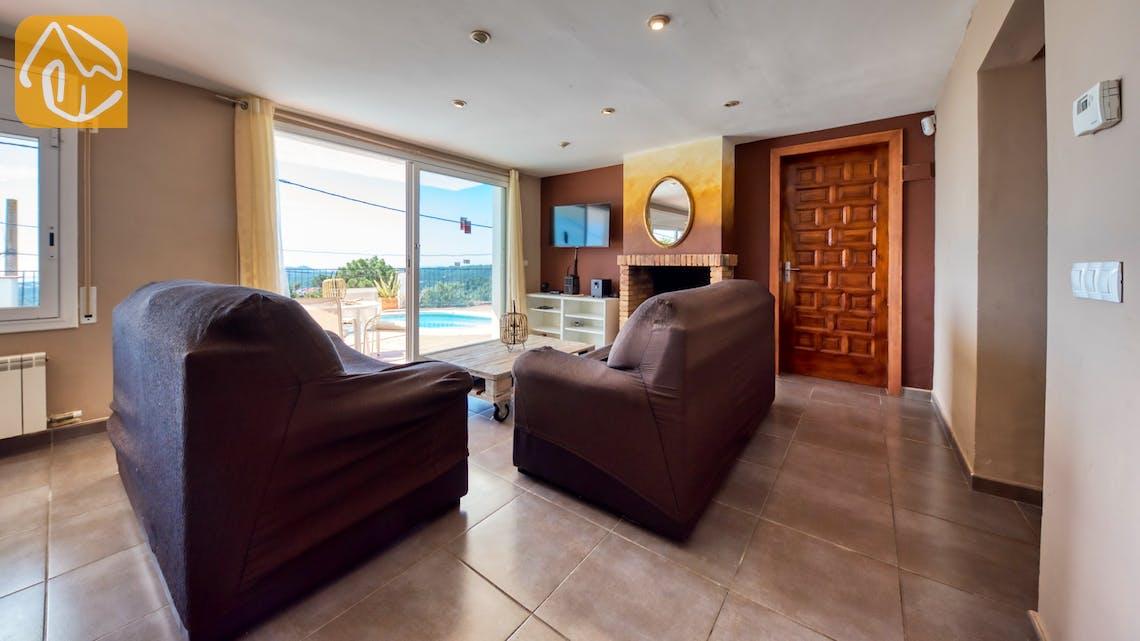 Ferienhäuser Costa Brava Spanien - Villa Sofia - Wohnbereich