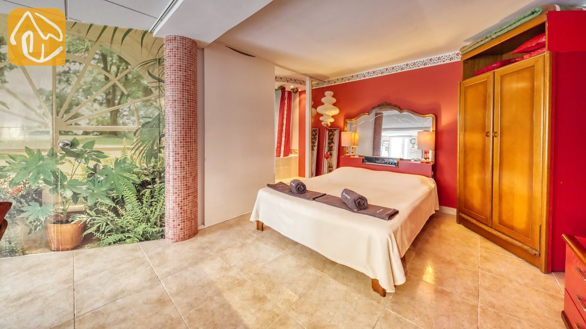 Casas de vacaciones Costa Brava España - Villa Geolouk - Dormitorio
