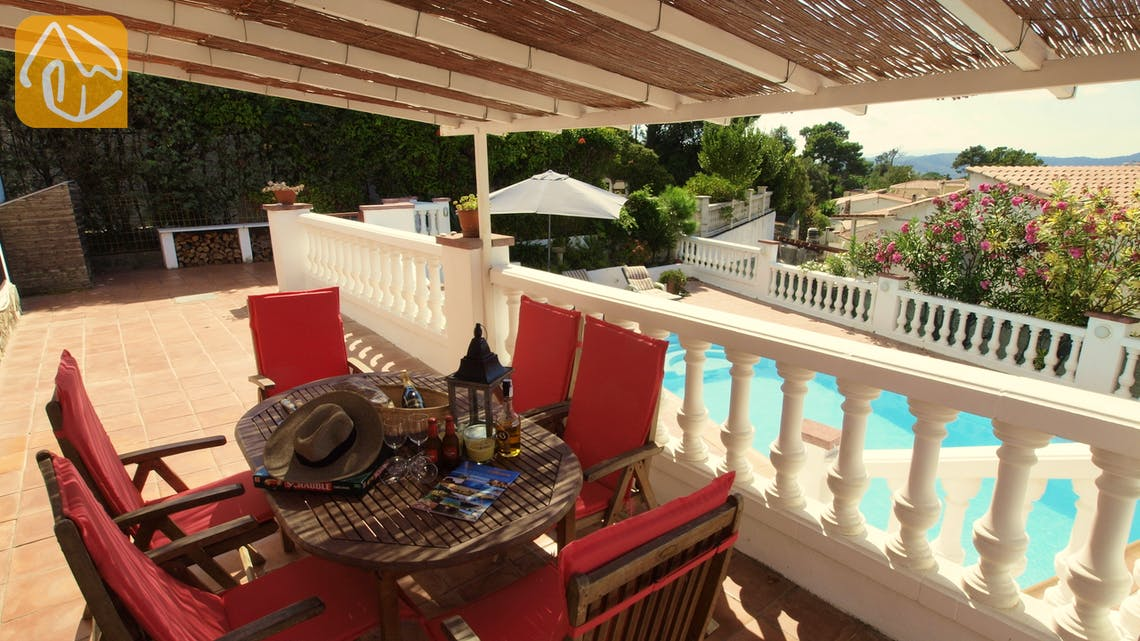 Holiday villas Costa Brava Spain - Villa Liliana - Terrace