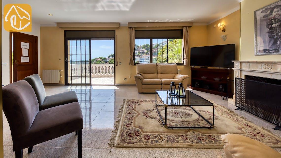 Ferienhäuser Costa Brava Spanien - Villa Paris - Wohnbereich
