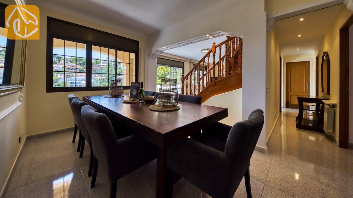 Vakantiehuizen Costa Brava Spanje - Villa Paris - Diner zone