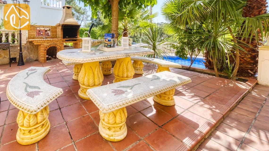 Casas de vacaciones Costa Brava España - Villa Manuela - BBQ Area