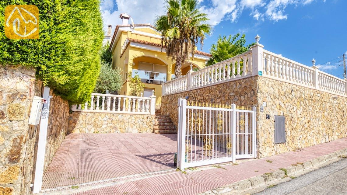 Casas de vacaciones Costa Brava España - Villa Manuela - Street view arrival at property