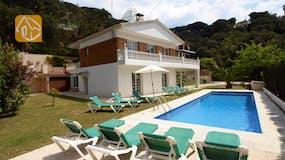 Ferienhäuser Costa Brava Spanien - Villa Jade - Garten
