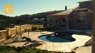 Ferienhäuser Costa Brava Spanien - Villa Dorada - Villa Außenbereich