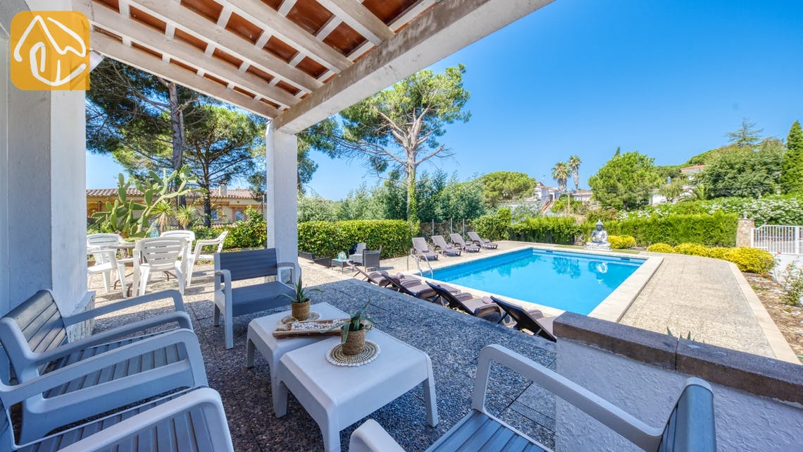 Ferienhäuser Costa Brava Spanien - Villa Violeta - Sitzecke