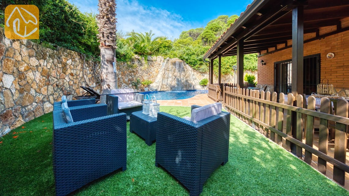 Holiday villas Costa Brava Spain - Villa Alba - Lounge area