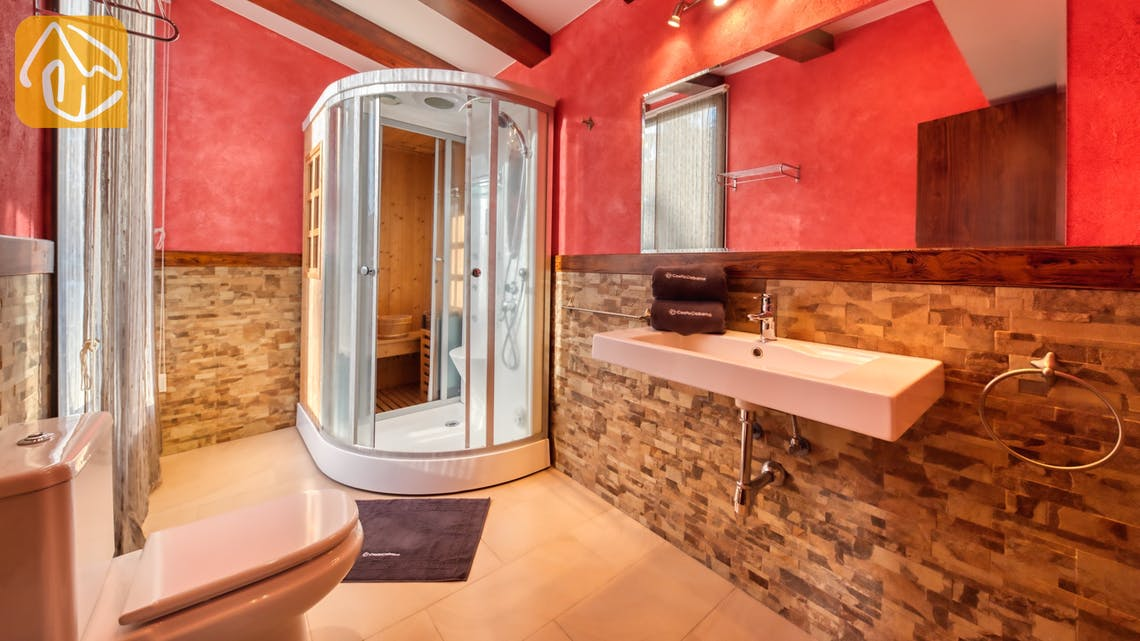 Villas de vacances Costa Brava Countryside Espagne - Villa Can Bernardi - En-suite bathroom