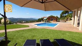 Ferienhäuser Costa Brava Spanien - Villa Luna - Garten