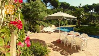 Casas de vacaciones Costa Brava España - Villa Jasmin - Jardín