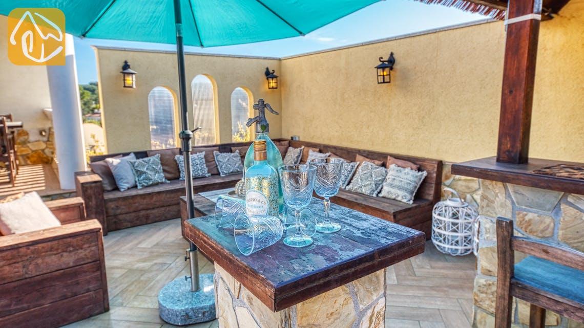 Ferienhäuser Costa Brava Spanien - Villa Madonna - Sitzecke