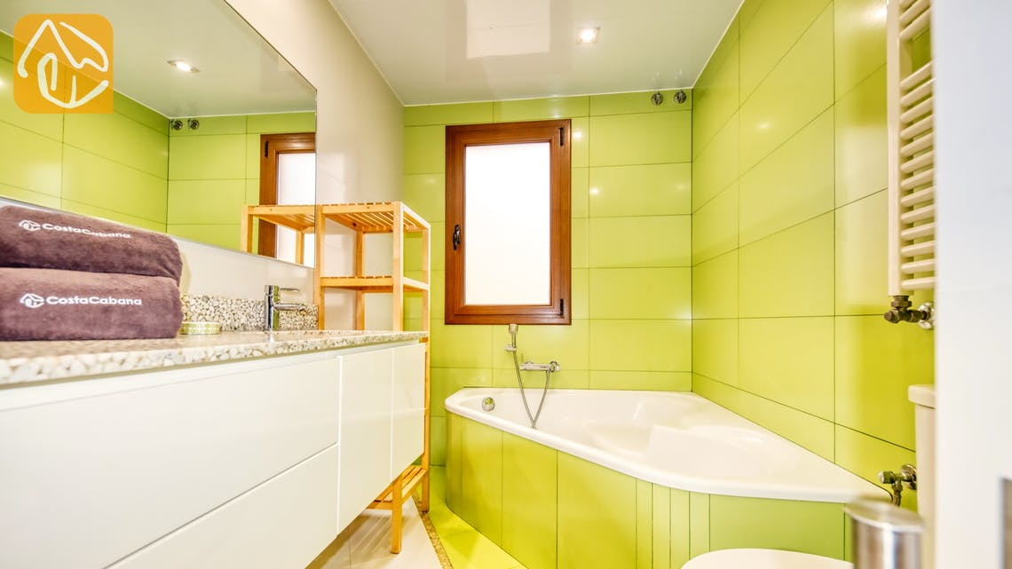 Ferienhäuser Costa Brava Spanien - Villa Ibiza - Badezimmer