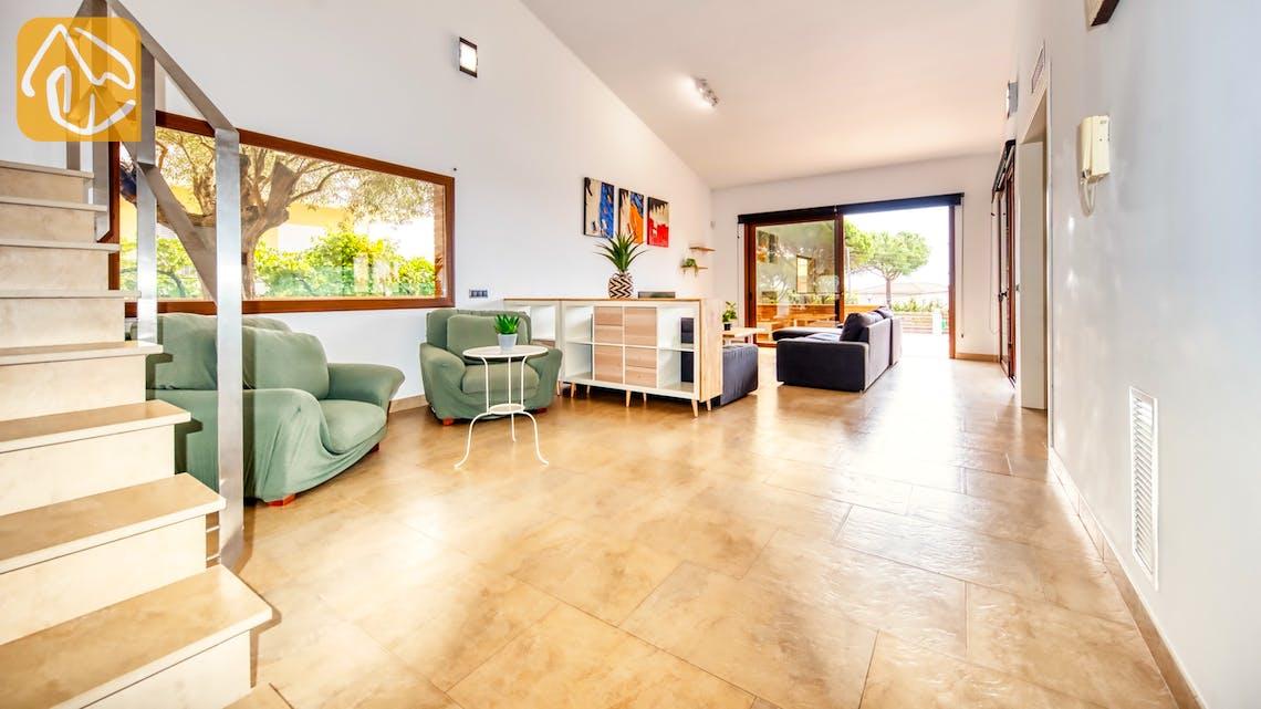 Ferienhäuser Costa Brava Spanien - Villa Ibiza - Wohnbereich