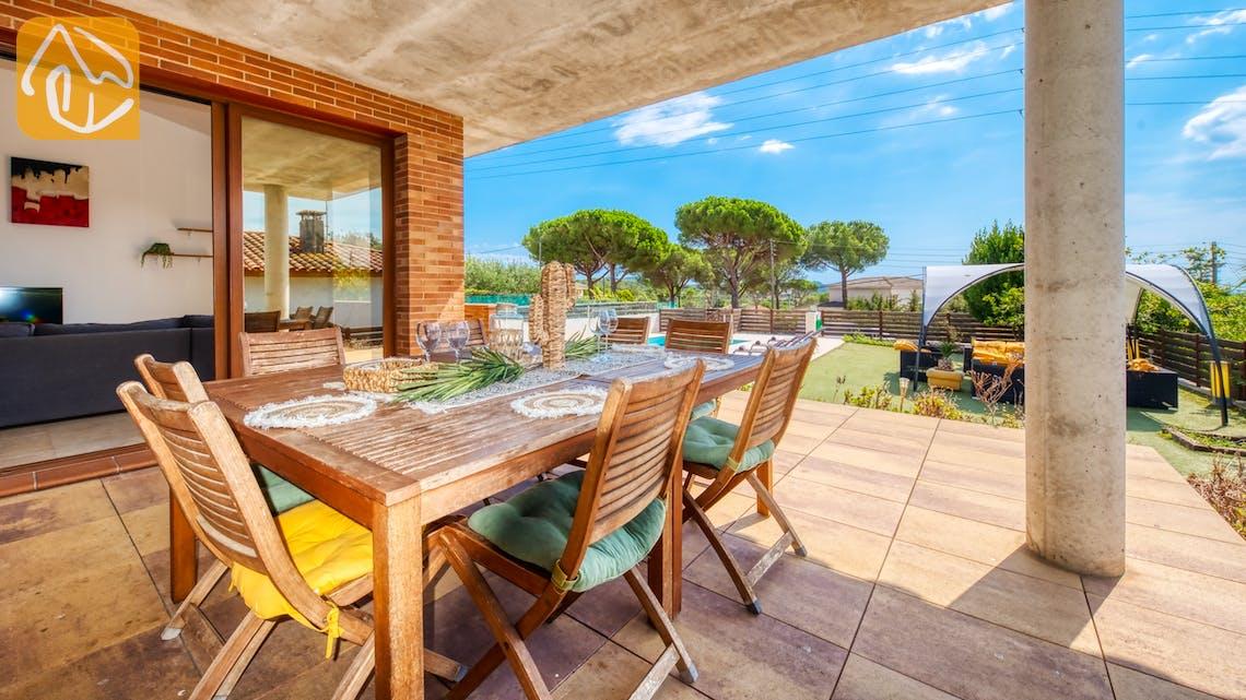 Ferienhäuser Costa Brava Spanien - Villa Ibiza - Essbereich