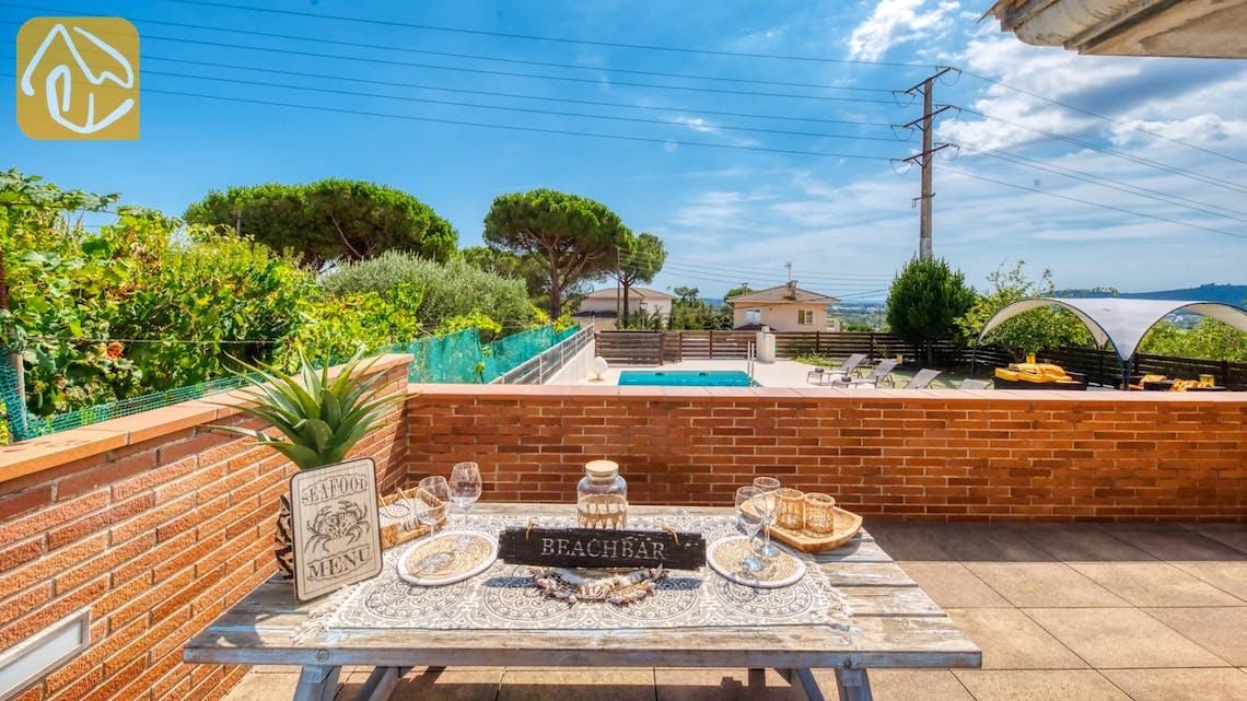 Ferienhäuser Costa Brava Spanien - Villa Ibiza - BBQ Area
