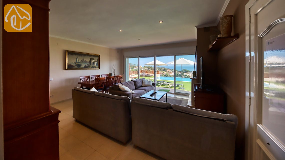 Holiday villas Costa Brava Spain - Villa Chanel - Living area