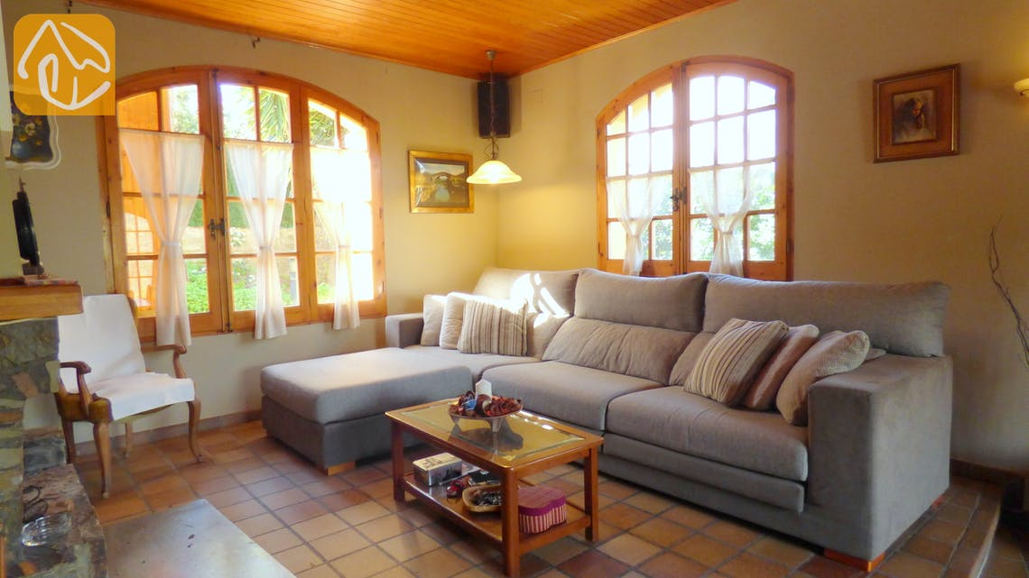Holiday villas Costa Brava Spain - Villa Daniele - Living area