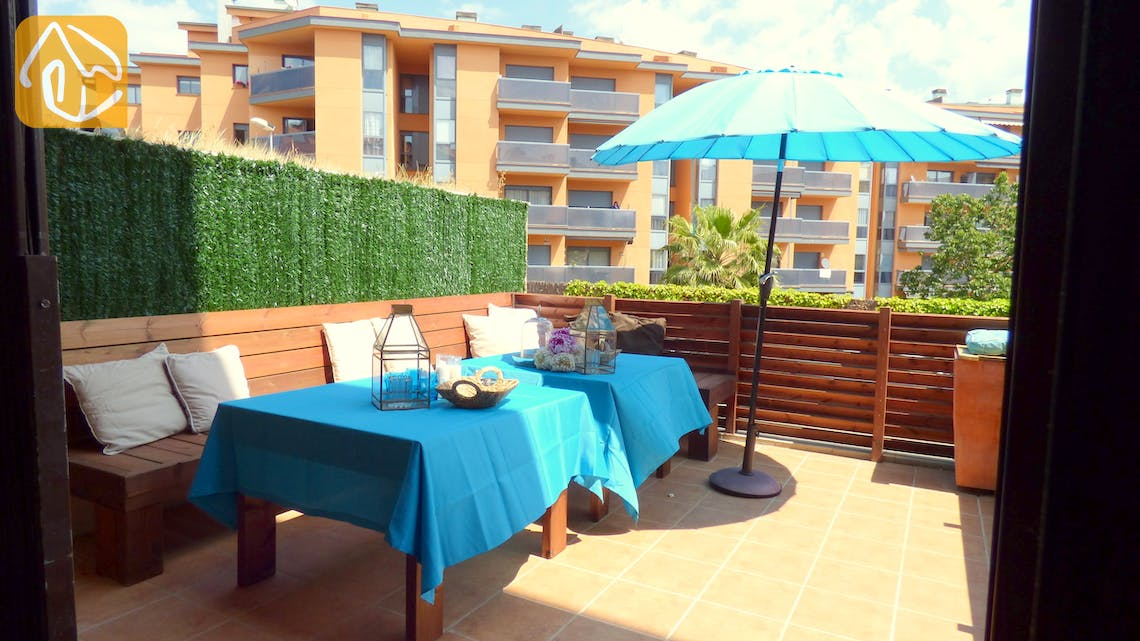 Holiday villas Costa Brava Spain - Apartment Delylah - Terrace