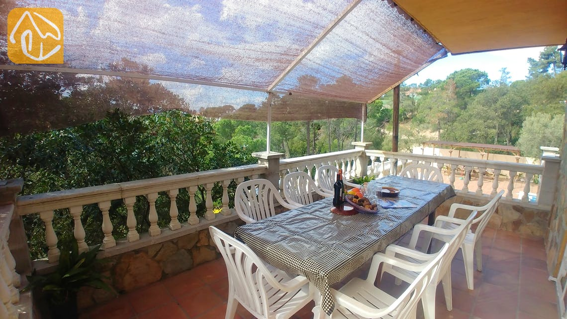 Holiday villas Costa Brava Spain - Villa Zarah - Terrace