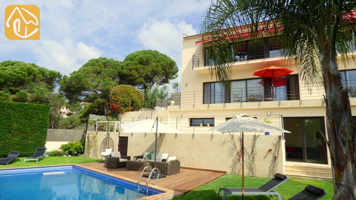Ferienhäuser Costa Brava Spanien - Villa Dulcinea - Villa Außenbereich