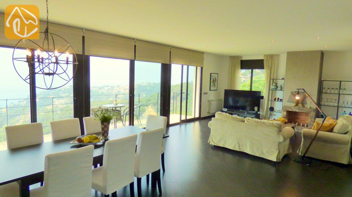 Ferienhäuser Costa Brava Spanien - Villa Dulcinea - Wohnbereich