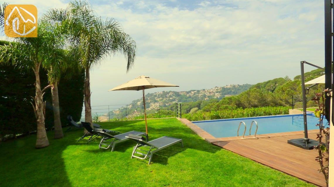 Ferienhäuser Costa Brava Spanien - Villa Dulcinea - Garten