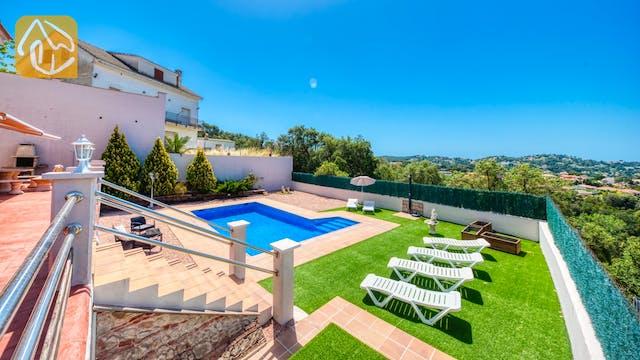 Ferienhäuser Costa Brava Spanien - Villa Dominique - Villa Außenbereich