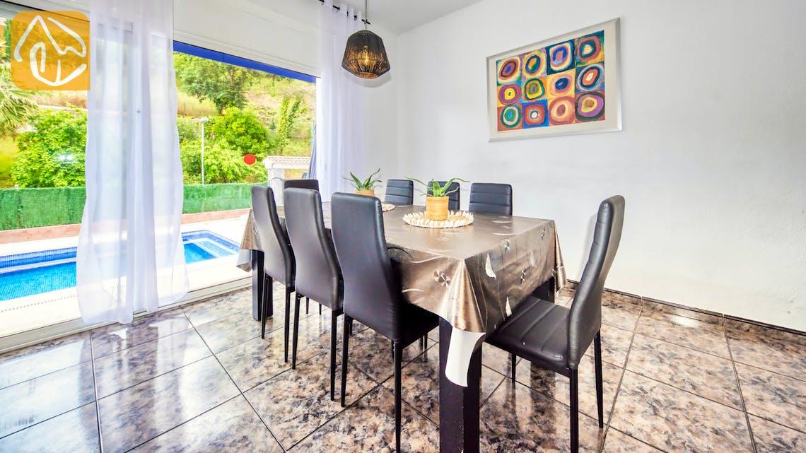 Ferienhäuser Costa Brava Spanien - Villa Zarita - Essbereich