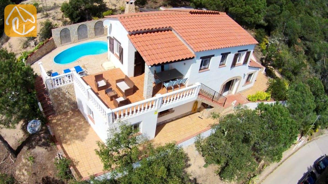 Ferienhäuser Costa Brava Spanien - Villa Monte Carlo - Villa Außenbereich