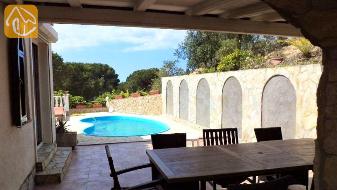 Ferienhäuser Costa Brava Spanien - Villa Monte Carlo - Terrasse