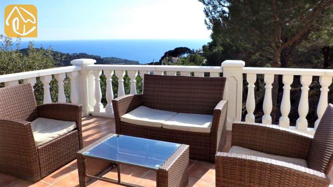 Ferienhäuser Costa Brava Spanien - Villa Monte Carlo - Sitzecke