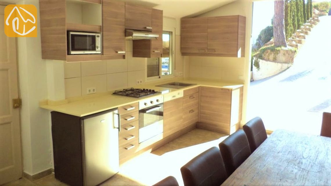 Ferienhäuser Costa Brava Spanien - Villa Tropical - Küche