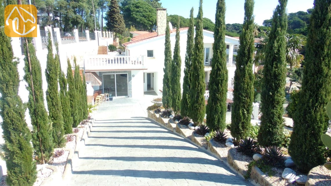Ferienhäuser Costa Brava Spanien - Villa Tropical - Villa Außenbereich