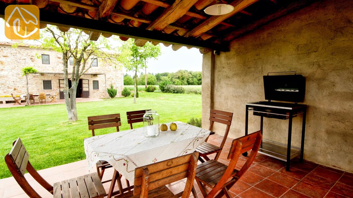 Holiday villas Costa Brava Countryside Spain - Can Amarillo - Terrace