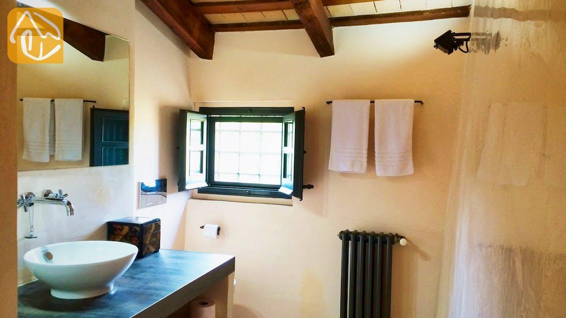 Casas de vacaciones Costa Brava Countryside España - Mas Dalvi - En-suite bathroom
