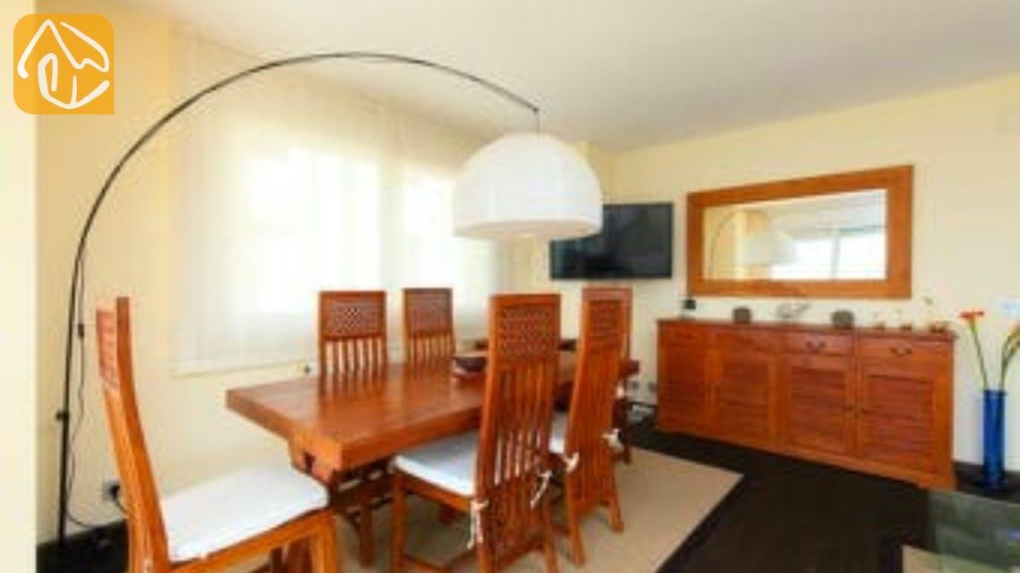 Holiday villas Costa Brava Spain - Apartment Saint Tropez - Dining area