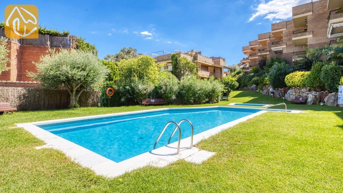 Casas de vacaciones Costa Brava España - Apartment Monaco - Communal pool