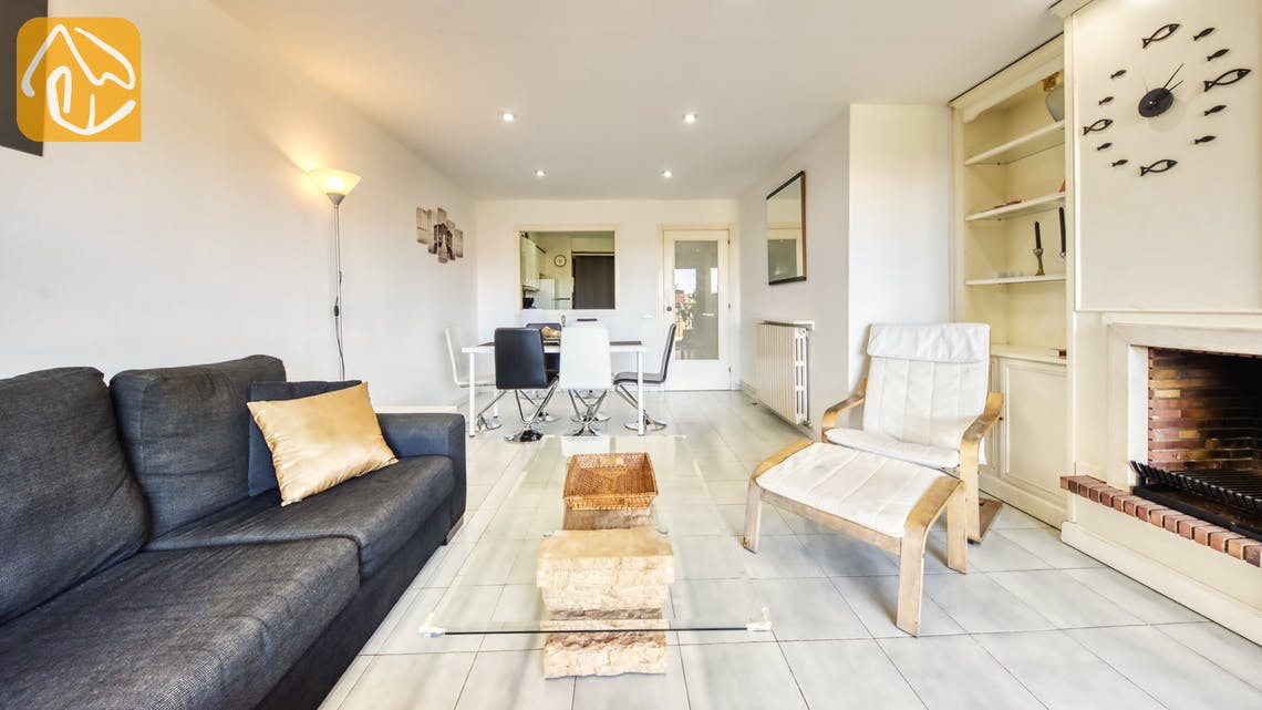 Ferienhäuser Costa Brava Spanien - Apartment Monaco - Wohnbereich